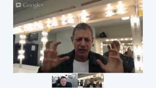 A live chat with actor Jeff Goldblum