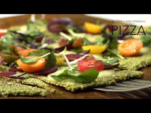 Green Split Pea & Spinach Pizza