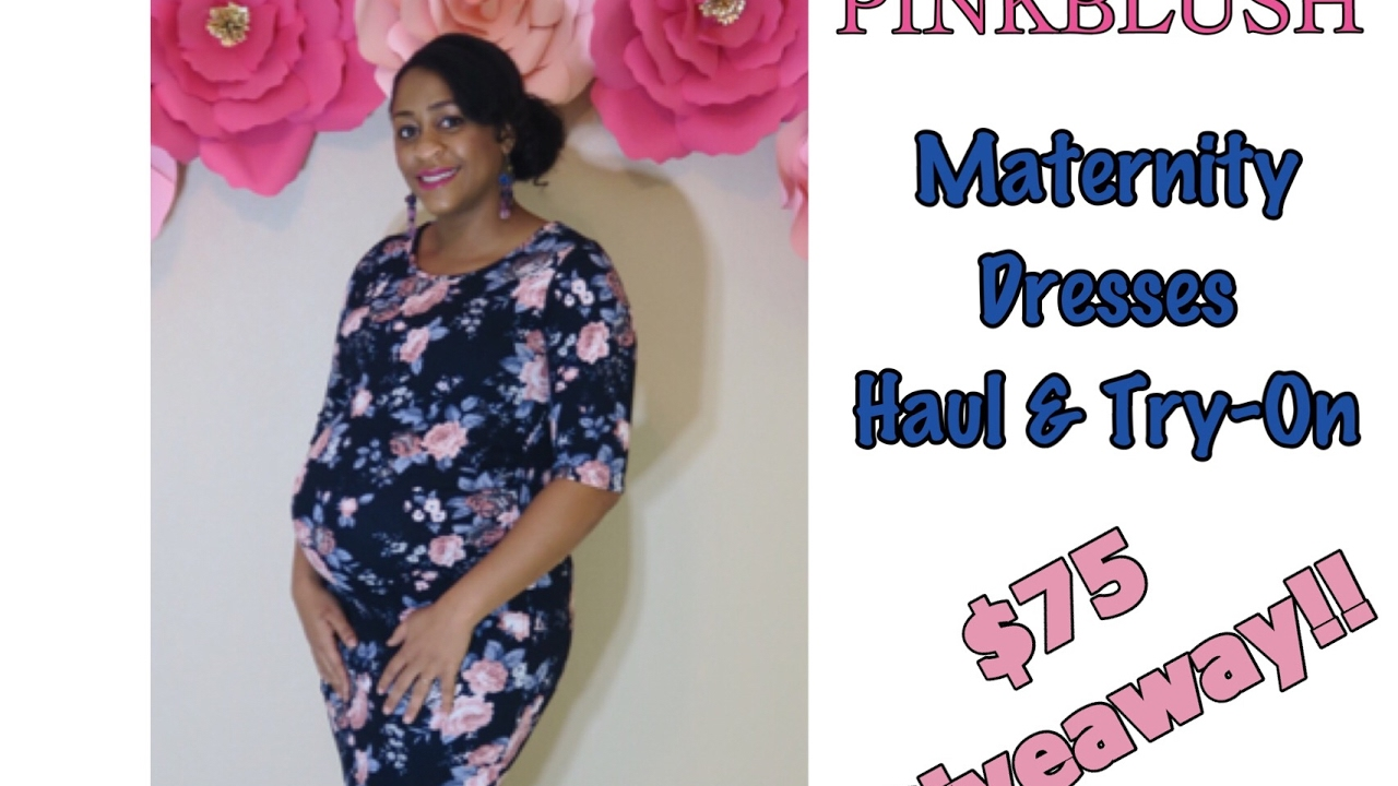 eb8d6f50d78ba Sharron's Take: Pinkblush Maternity Dress Haul Review and $75 Giveaway!