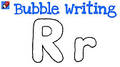 How to draw bubble letter R