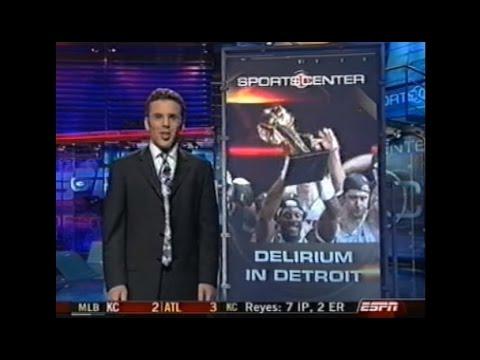 Pistons Win 2004 NBA Championship (SportsCenter Footage)