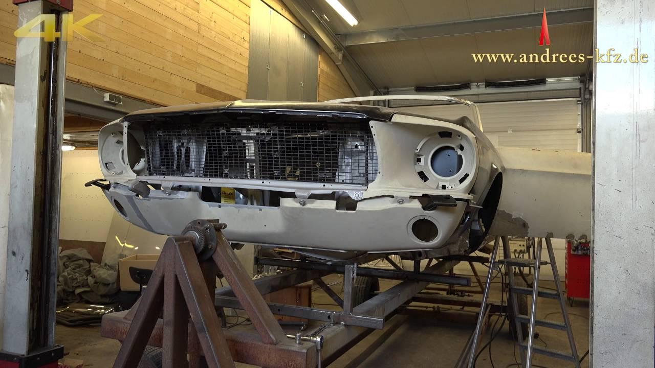 4k ford mustang 1968 cabrio restoration teil i vom schrottauto zum top auto