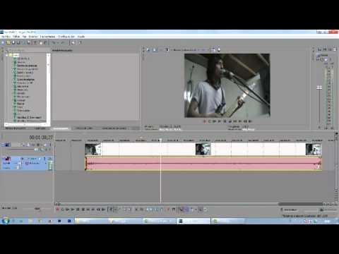 Como Unir Y Separar El Audio En Sony Vegas Youtube