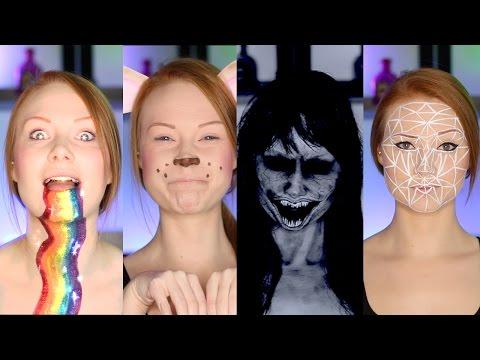 7 Snapchat Filters Makeup Tutorial/DIY (CC)