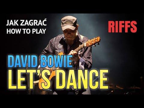 "How to play (TAB): David Bowie ""Let's Dance"" - RIFFS 45 Guitar Lesson Tutorial  Jak zagrać"