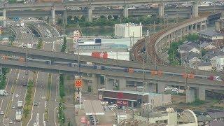【JR四国】8000系特急「しおかぜ16号」をゴールドタワーから撮影