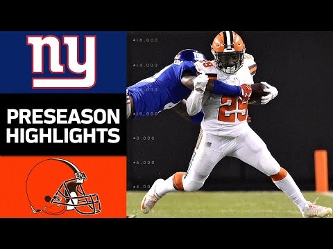 Giants vs. Browns | NFL Preseason Week 2 Game Highlights