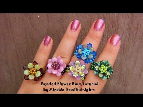 Beaded Flower Ring Tutorial