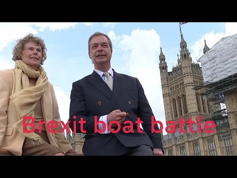 Nigel Farage and Sir Bob Geldof battle over Brexit on boats