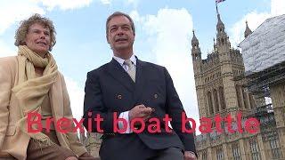 Nigel Farage and Sir Bob Geldof battle over Brexit on boats