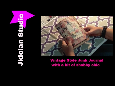 Vintage style-junk journal flip-through Buttons N Bows