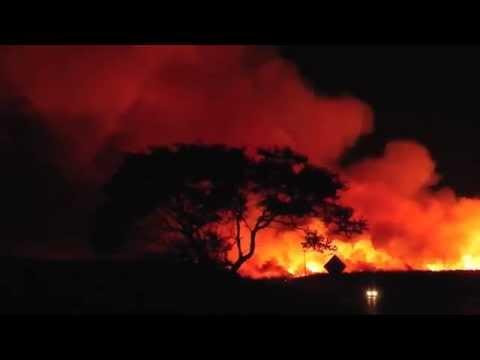 Sugar Cane Burning, Maui Hawaii, June 12, 2014