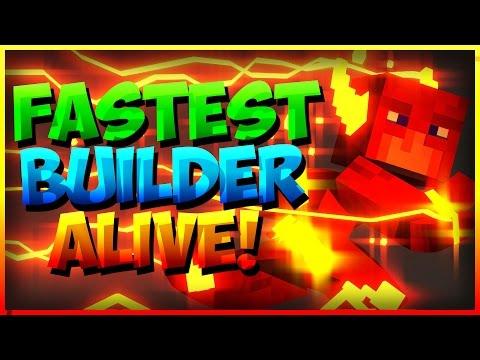 FASTEST MAN ALIVE!? - Minecraft SPEED BUILDERS (Mineplex Memorising Mini-game!)