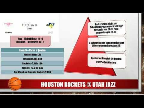 Utah Jazz vs Houston Rockets 🏀 NBA Prognosen, Vorhersagen, Tipps und Quoten  💰✊