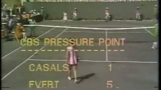 Rosie Casals vs. Chris Evert - 1975 CBS Pressure Point