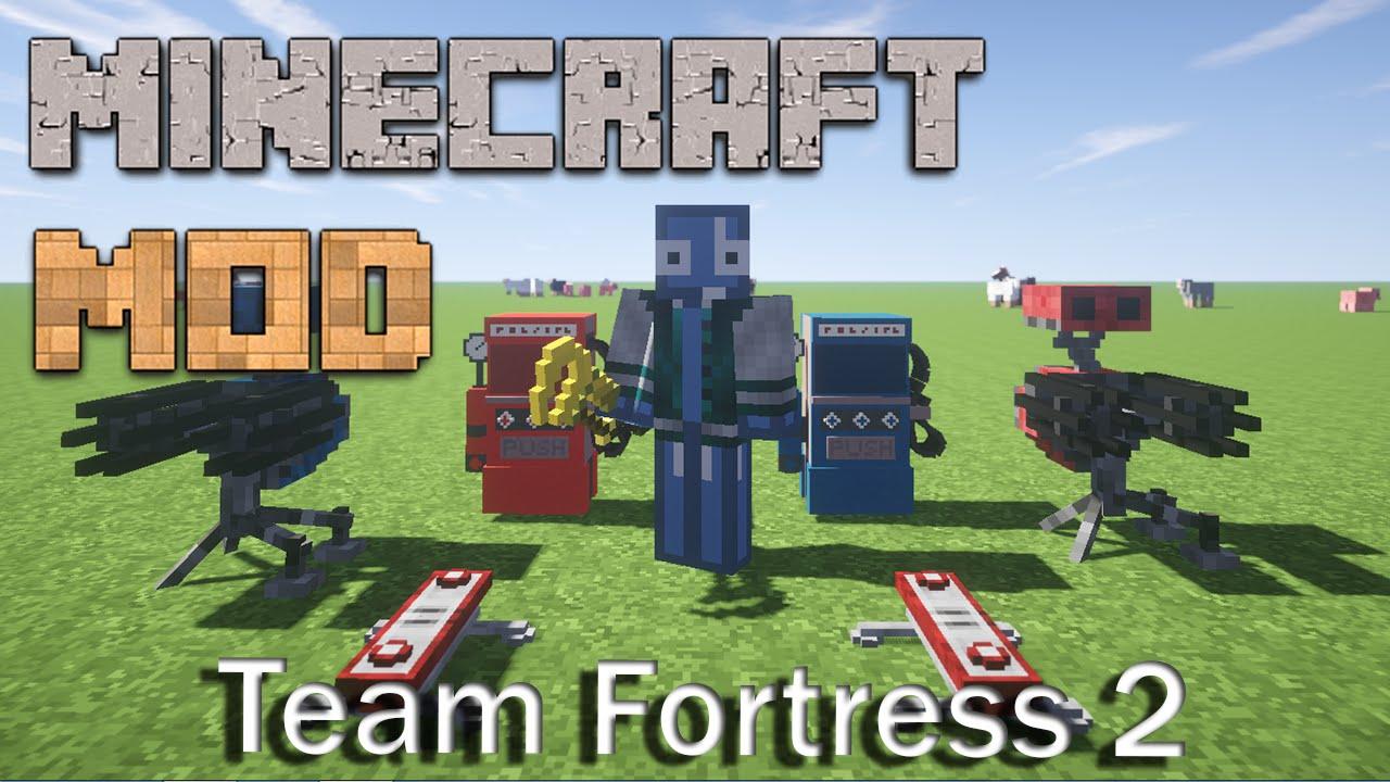 minecraft mods team fortress 2 1 7 10 mod showcase youtube