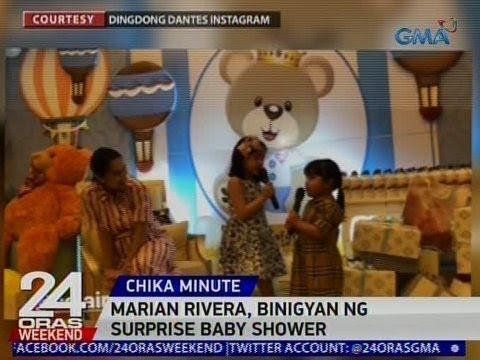 24 Oras: Marian Rivera, binigyan ng surprise baby shower