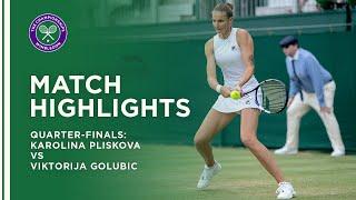 Karolina Pliskova vs Viktorija Golubic   Quarter-Final Highlights