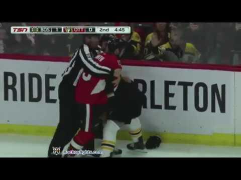 Brad Marchand vs Zack Smith Oct 23, 2018