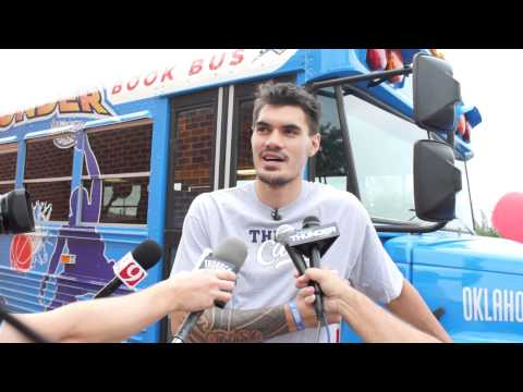 Steven Adams And The Thunder Book Bus!