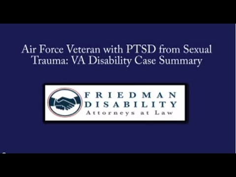 Air Force Veteran with PTSD from Sexual Trauma Wins VA Disability Claim