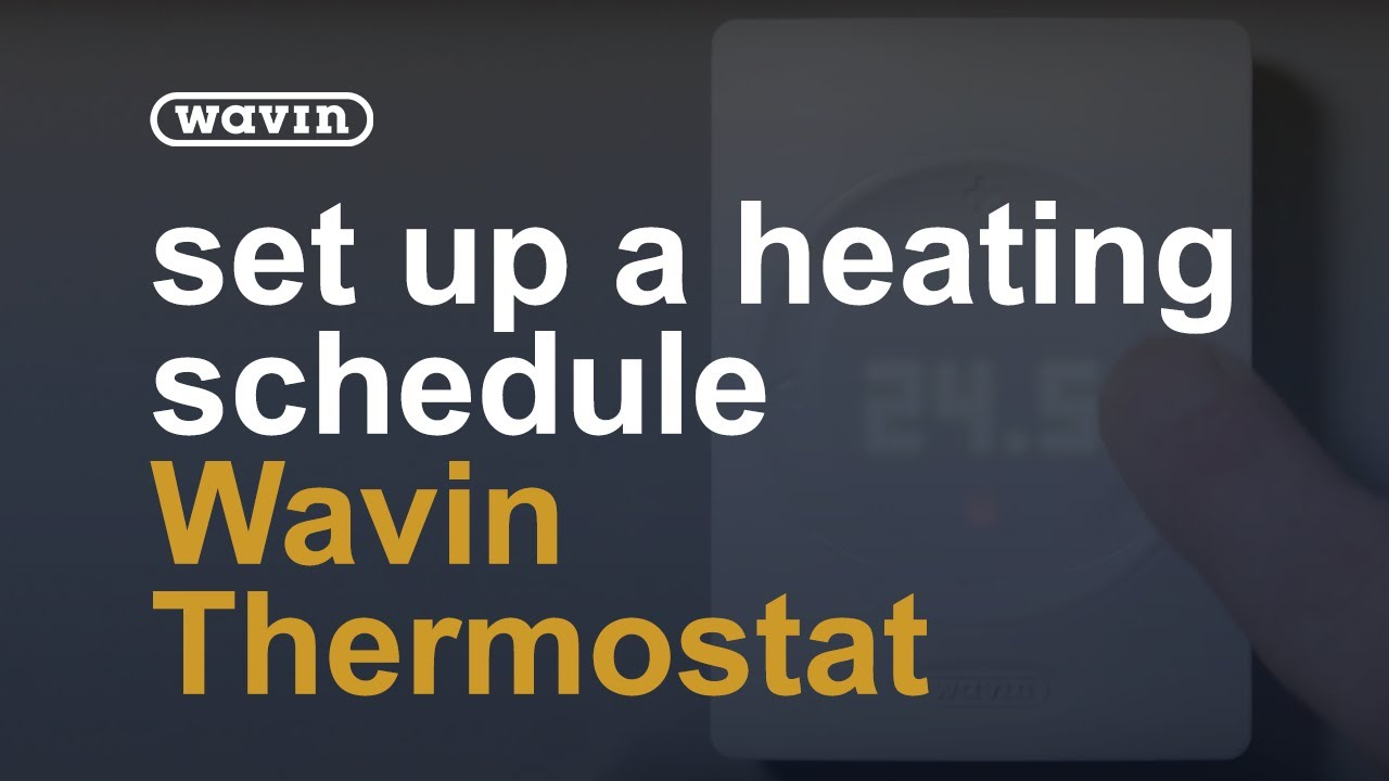 Setting the heating schedule on