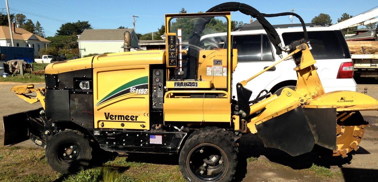 Vermeer Stump Grinder >> 2011 Vermeer SC1152 Self-Propelled Stump Grinder demo ...