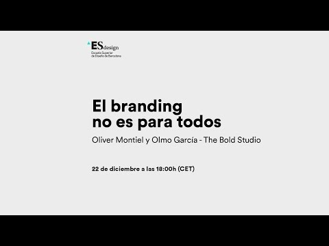 Webconference de The Bold Studio para ESdesign - El Branding