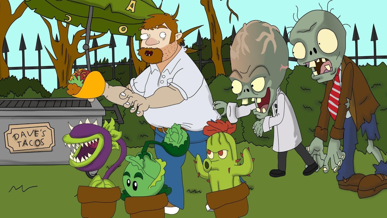 Plants vs  Zombies ANIMATION Crazy Dave Life (Cartoon)