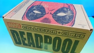 MARVEL COLLECTOR CORPS SUBSCRIPTION BOX OPENING DEADPOOL FEBRUARY 2016
