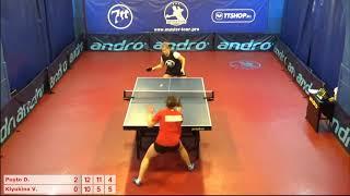 Настольный теннис матч 20112018 8 Пуйто Дарья Клюкина Виктория за 3-4 место