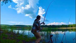 ВЗЯЛ ЖЕНУ НА РЫБАЛКУ И началось рыбалка на удочку 2021