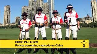 Hugo Palacios, polista correntino viviendo en China