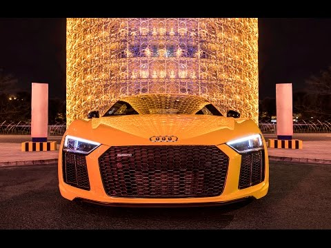 2017 Audi R8 V10 Plus (610hp) in Vegas Yellow - Sound, launch control, interior, exterior
