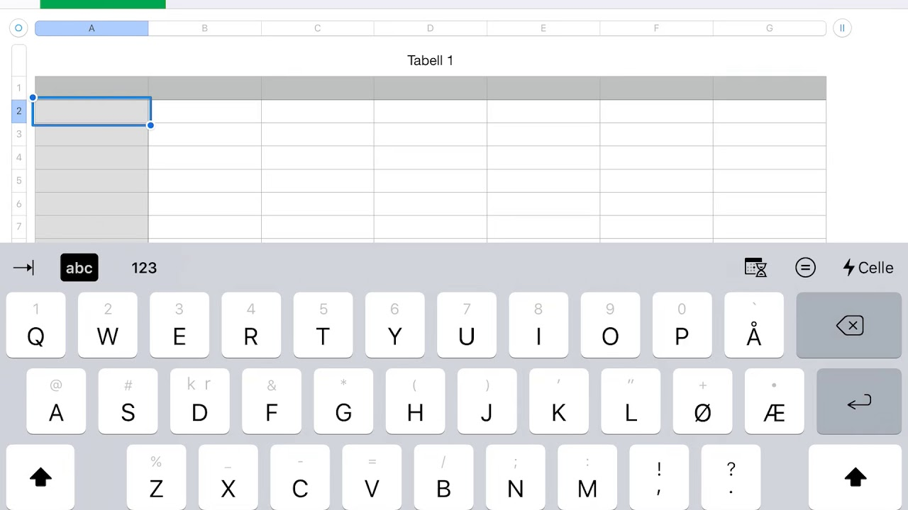 Lær å regne med Numbers på iPad