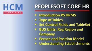 HR Fundamentals | Part 1 | PeopleSoft Core HR