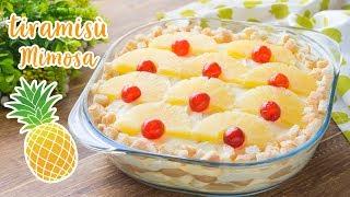 Ricetta Tiramisu Ananas Senza Uova.Tiramisu All Ananas Mimosa Ricetta Dolce Facile E Veloce 55winston55 Youtube