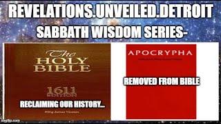Sabbath WISDOM Series 16 pt. 2. Wisdom of SOLOMON & Ecclesiasticus.