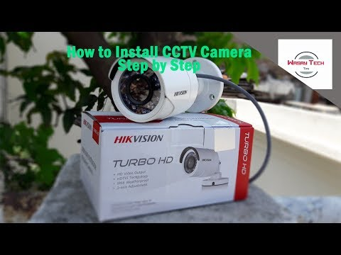 how to install cctv camera(urdu) |how to install cctv camera step by step|how to install cctv camera