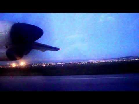 Tunisair Express landing Tunis from Djerba