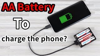A Simple AA Battery Power bank Anyone Can Make at home