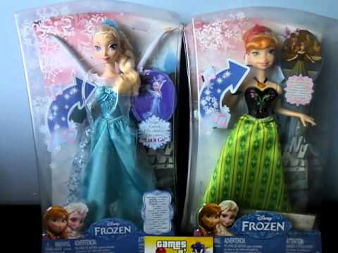 99afd0bd2b Bonecas Anna e Elsa Frozen Musical Mattel Disney que cantam - YouTube