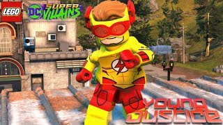 LEGO DC Super Villains Kid Flash (Young Justice DLC) Free Roam Gameplay