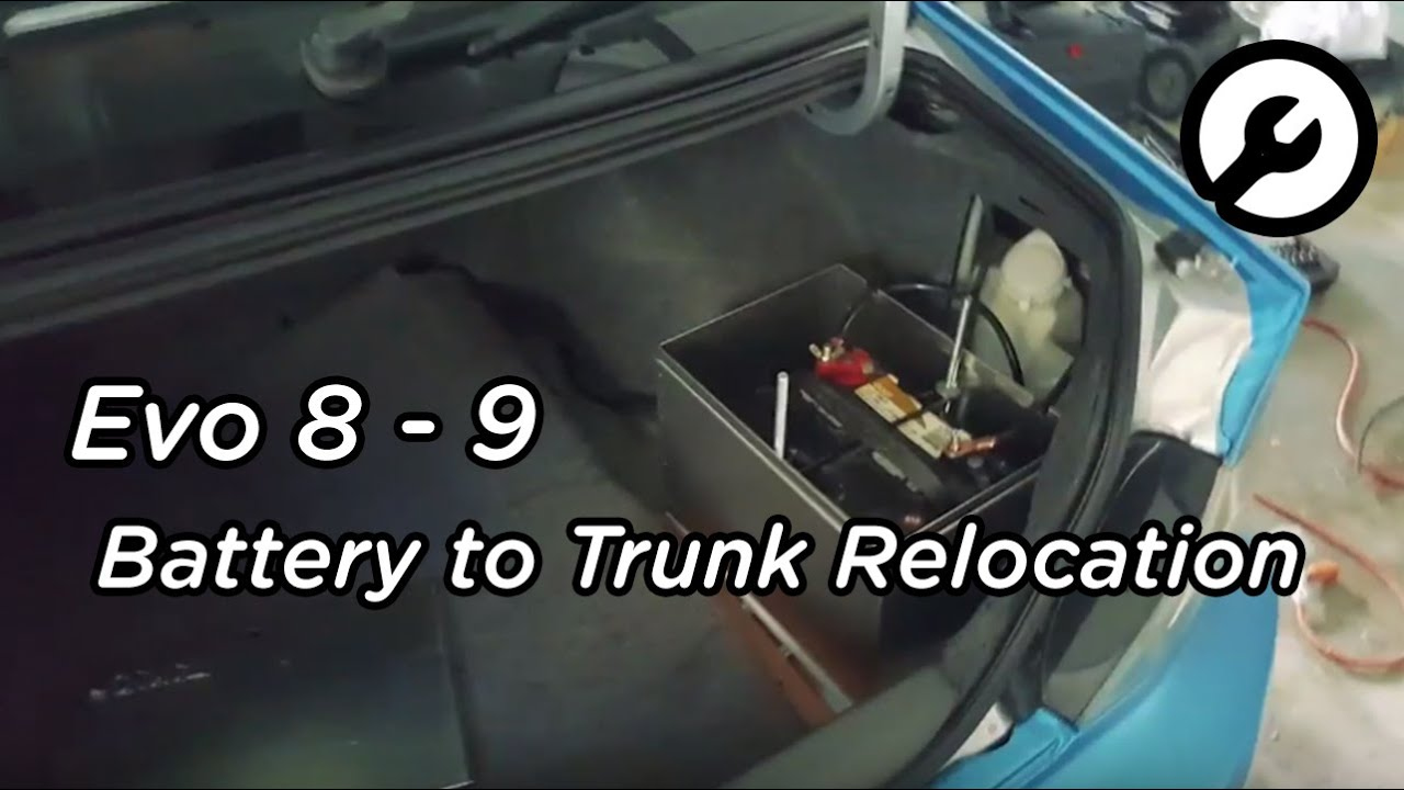 Battery Relocation On An Evo 9 Front To Rear Trunk Youtube 8 Wiring Diagram