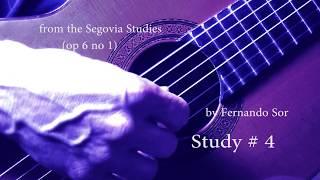 Sor  Study 4 op. 6 no. 1  Dean Zimmerman on guitar estudio 4 Allegretto Fernando Sor Segovia Studies