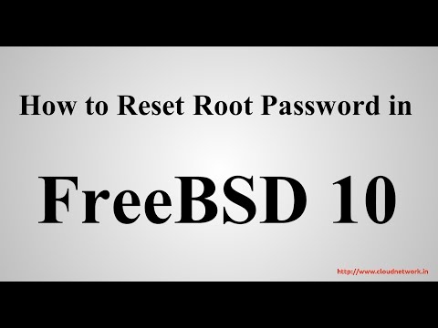 How to Reset Root Password in FreeBSD 10