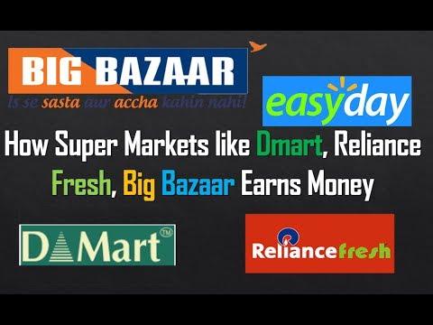 How Super Markets like Dmart, Reliance Fresh, Big Bazaar Earns Money