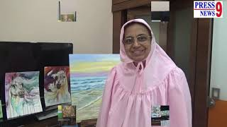 #MFHusain एम एफ़ हुसैन को अपना आदर्श माननेवाली आर्टिस्ट इंसिया सेववाला।