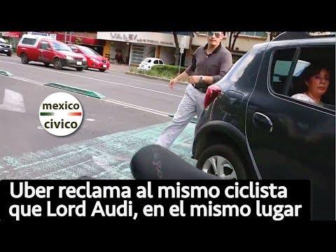 Chofer de Uber agrede al mismo ciclista que Lord Audi, en el mismo lugar [COMPLETO]