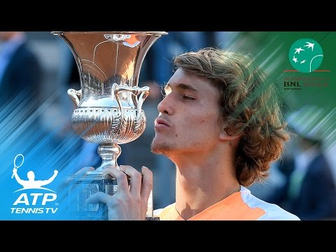 Alexander Zverev beats Novak Djokovic to win first Masters 1000 title | Rome 2017 Final Highlights